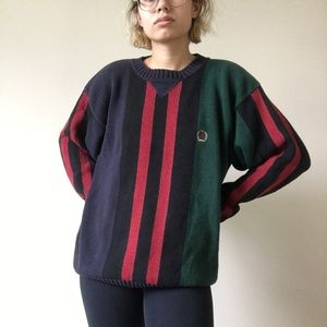 Tommy Hilfiger thick colorblock knit sweater
